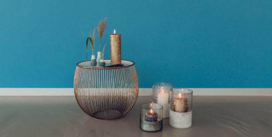 Yoga by Veronika, Kerzen und Tisch