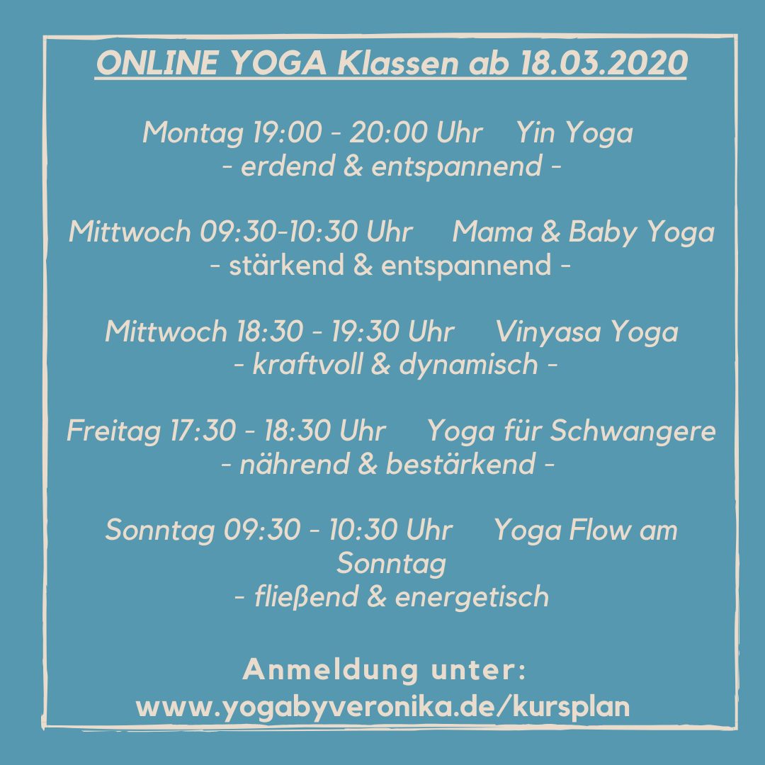 NEU Online Yoga Klassen, Yoga by Veronika